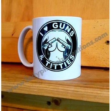 I Love Guns and.... Mug - Lady Phoenix Creations