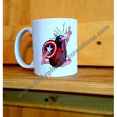 Captain Caveman Captain America Mug - Lady Phoenix Creations