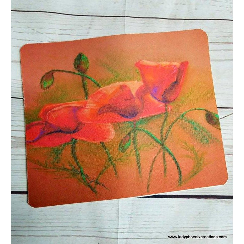 Poppy Mouse Pad - Lady Phoenix Creations