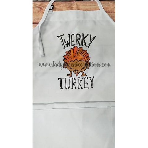 3 pocket bib apron - Turkey Twerk - Lady Phoenix Creations