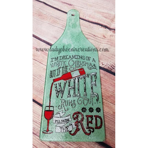 Glass Cutting Board -Wine Bottle - Lady Phoenix Creations