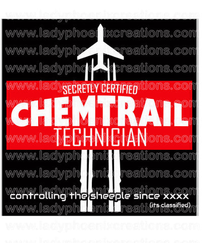 Chemtrail Technician Digital Download PNG file - Lady Phoenix Creations