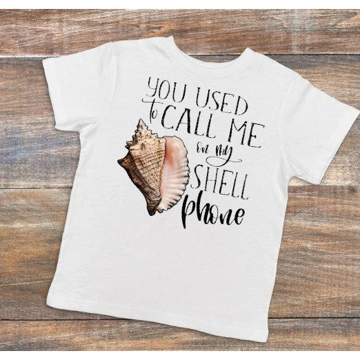 Call Me on My Shell Phone  - Dye Sublimated shirt - Lady Phoenix Creations
