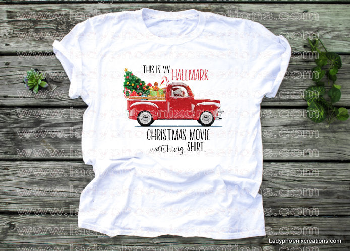 Christmas movie red truck Dye Sublimated shirts - Lady Phoenix Creations