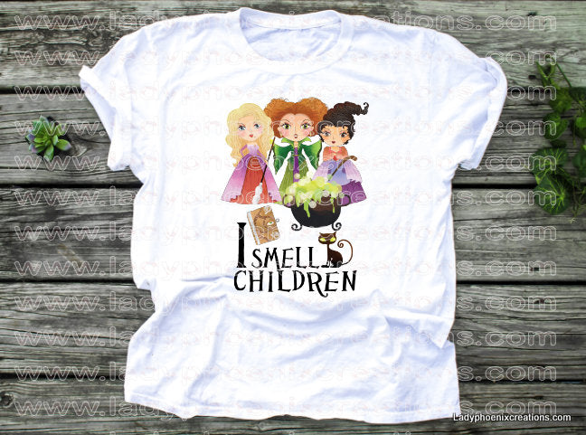 I smell children hocus pocus animated Dye Sublimated shirts - Lady Phoenix Creations
