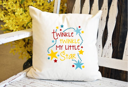 Twinkle twinkle my little star Pillow Cover - dye sublimation - Lady Phoenix Creations