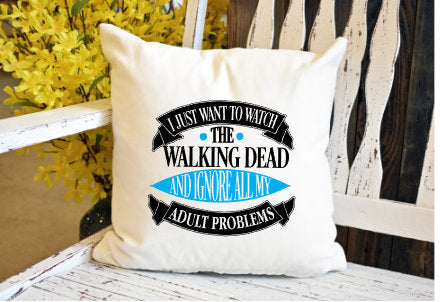 Walking dead Pillow Cover - dye sublimation - Lady Phoenix Creations