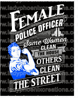 Rosie Police Design File SVG ONLY no product sent digital download - Lady Phoenix Creations