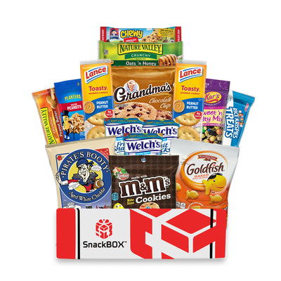 College Care Packages Students, Military, Halloween, Birthday and Back to School (15 Count) From SnackBOX-SnackBOX