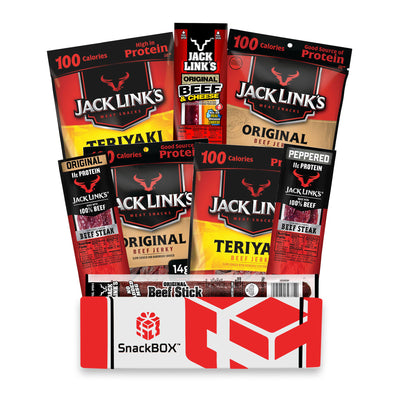 NEW Jack Link's Beef Jerky Care Package (8 Count)-SnackBOX