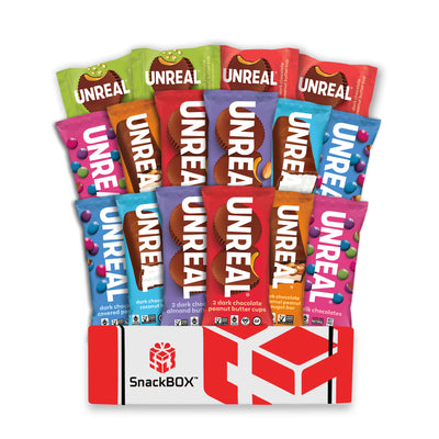 New UNREAL Chocolate Candy Care Package (16 Count)-SnackBOX