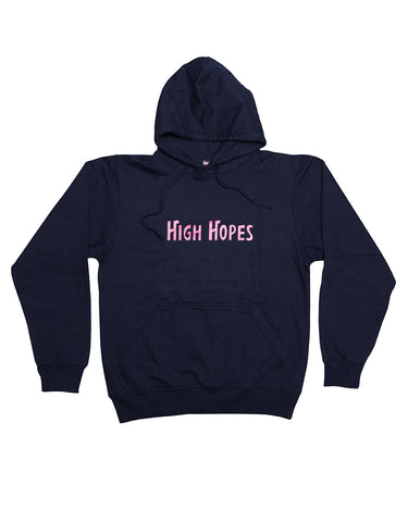 Navy Blue High Hopes Text Hoodie
