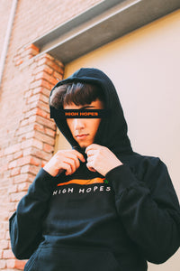 Black High Hopes Box Hoodie
