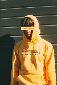 Yellow High Hopes Box Hoodie