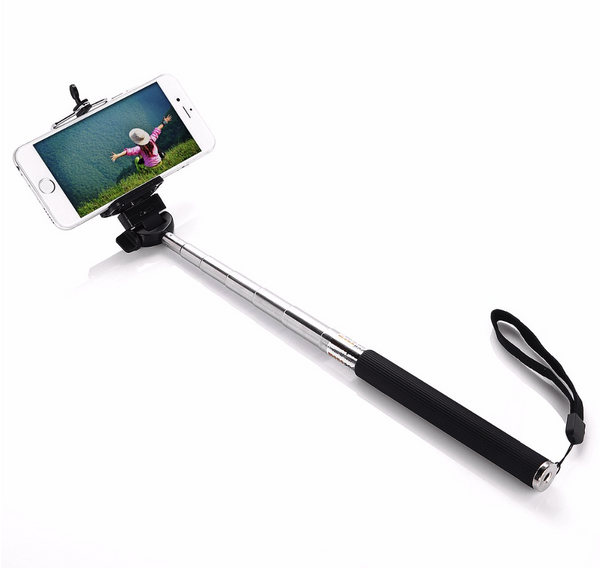 Extendable Selfie Stick with Bluetooth Remote Shutter - iOS and Android