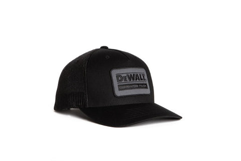 Oakdale Trucker Hat Black mesh with Black patch