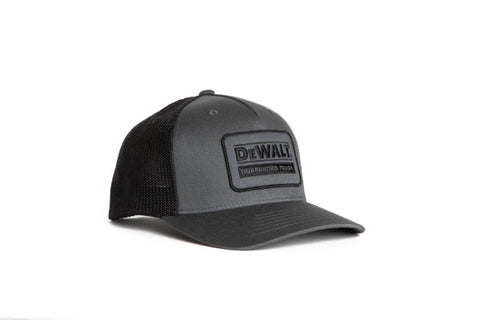 Oakdale Trucker Hat Black mesh with Grey patch