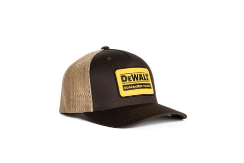 Oakdale Trucker Hat Tan mesh with Bark patch