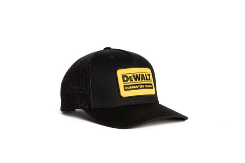 Oakdale Trucker Hat Black mesh with Yellow patch