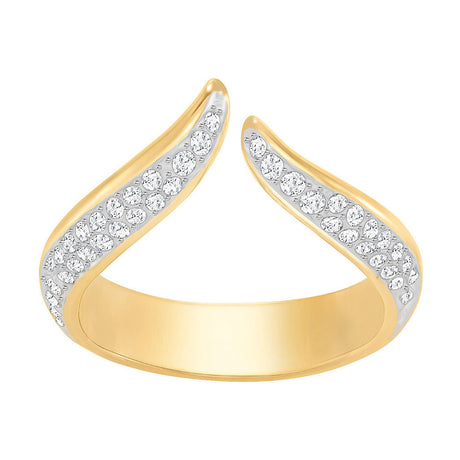 Bague Swarovski Groove Narrow, Blanc