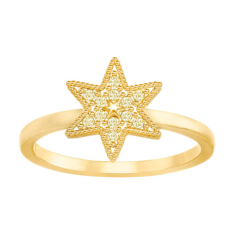 Bague Swarovski Field Star Goldfarben