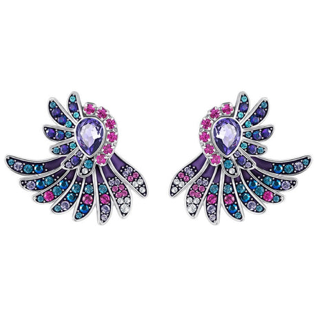 Boucles d'oreilles Swarovski Ear-Jacket Heartly, Multicolore, Métal Plaqué Palladium - 5288546
