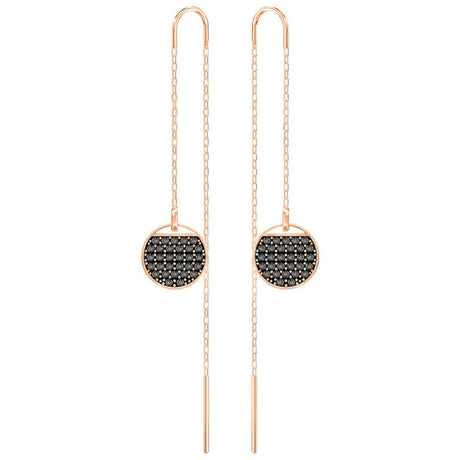 Boucles d'oreilles Swarovski Ginger Chain, Gros, Plaqué or rose - 5347293