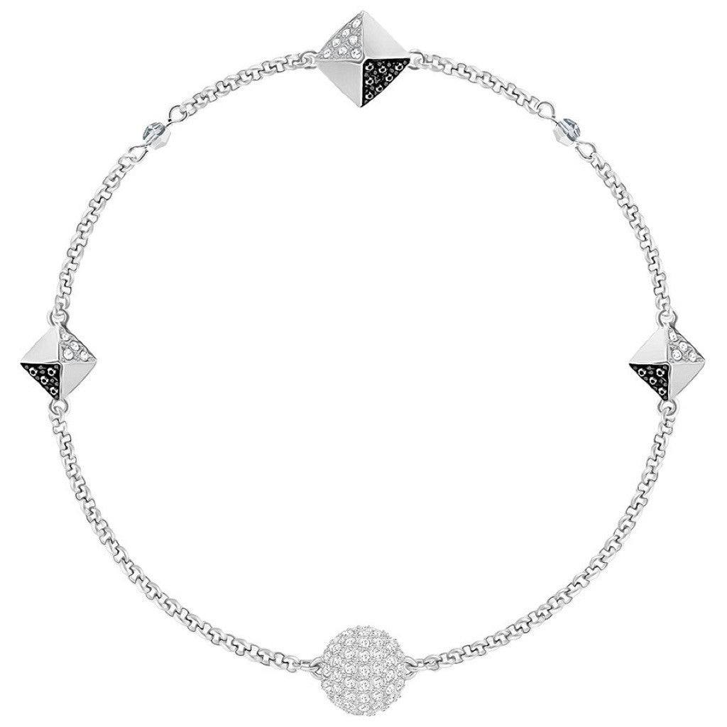 Bracelet Swarovski Black and White Remix Collection, Noir, Métal rhodié - 5354760