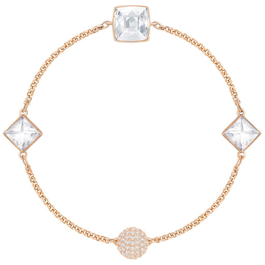 Bracelet Swarovski Crystal Spike Remix Collection, Blanc, Plaqué Or Rose - 5365756