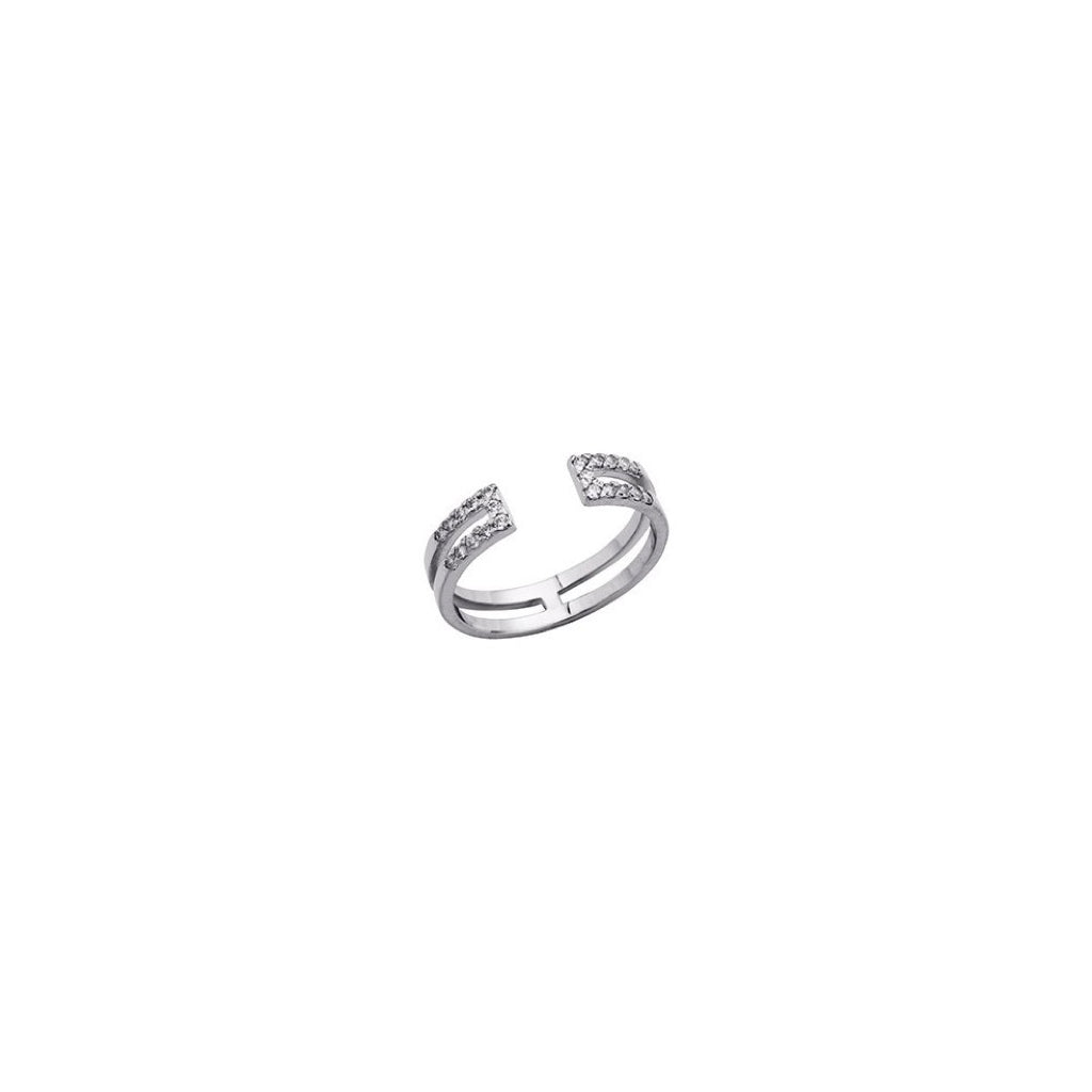 Bague Altesse Gravity en finition argent - 702917916