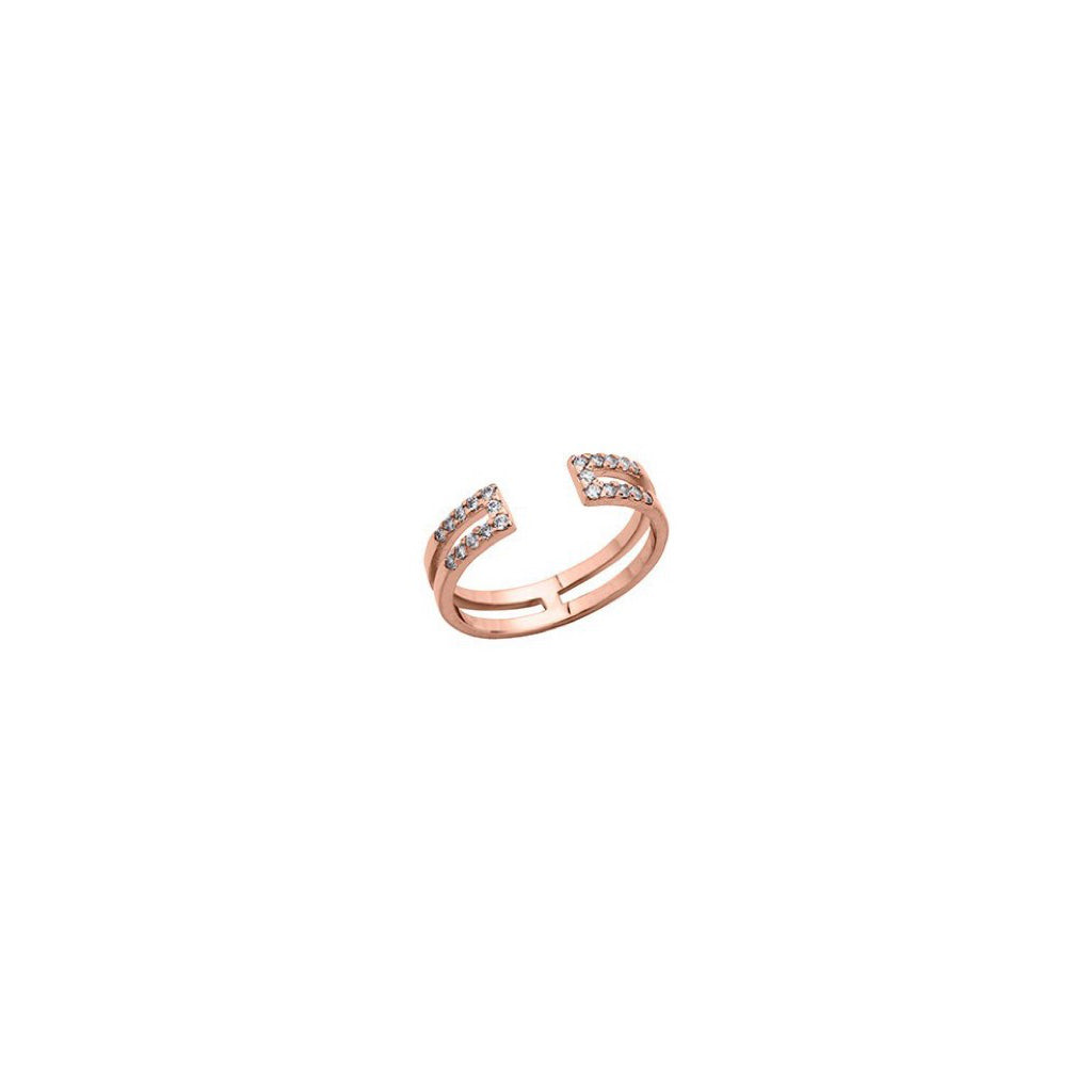 Bague Altesse Gravity en finition or rose - 702917940