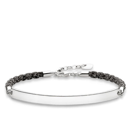 Bracelet Thomas Sabo Sterling Silver Love Bridge Mokuba Noir - LBA0029-173-11