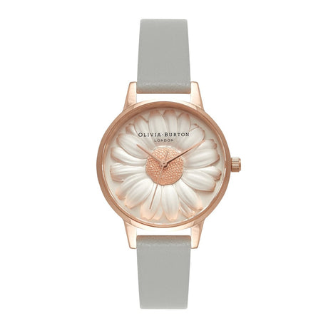 Montre Olivia Burton Daisy Grey & Rose Gold - OB15EG50