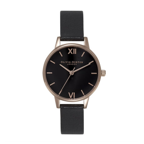 Montre Olivia Burton Midi Black Dial & Rose Gold - OB15MD42