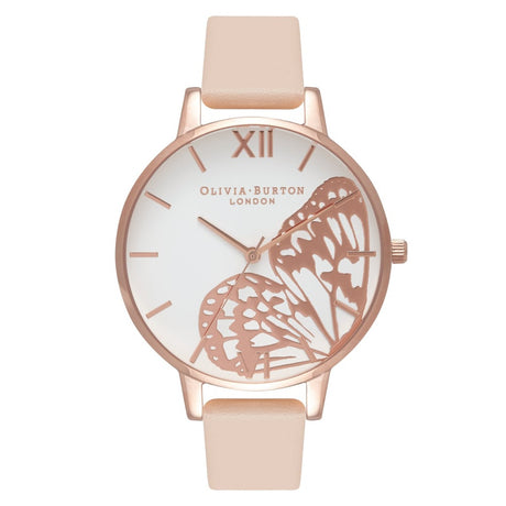 Montre Olivia Burton Applied Wing Nude Peach & Rose Gold - OB16AM94