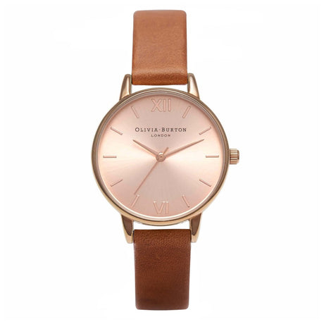 Montre Olivia Burton Midi Dial Tan & Rose Gold - OB16MD64