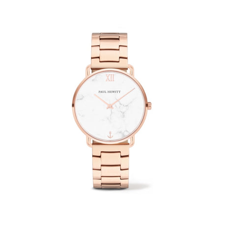 Montre Paul Hewitt Miss Ocean Line Marble Or Rosé Bande Métallique Or Rosé - PH-M-R-M-33S