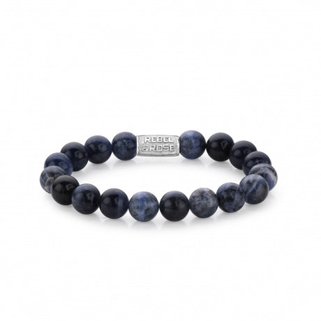 Bracelet Rebel & Rose Stones Only Midnight Blue 10mm - RR-10003-S