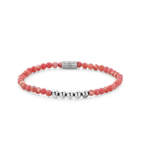 Bracelet Rebel & Rose More balls than most Coral Beach 4mm silver colored - RR-40032-S