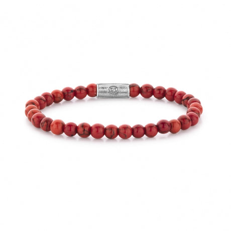 Bracelet Rebel & Rose Stones Only Red Delight 6mm Silver - RR-60028-S