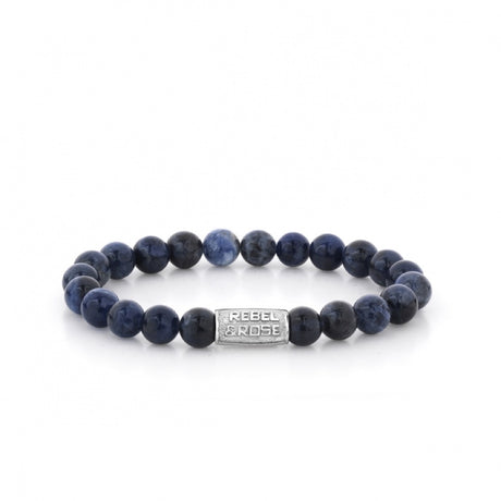 Bracelet Rebel & Rose Stones Only Midnight Blue 8mm Silver - RR-80010-S