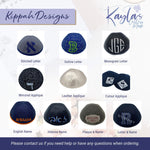 Black Striped Velvet Ikippah