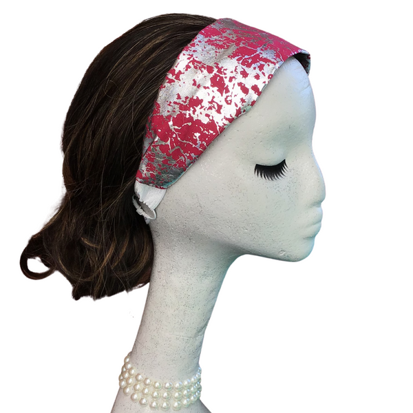 Pink Crackle Headband