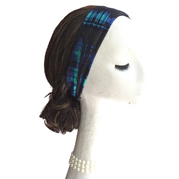 Blue Plaid Headband