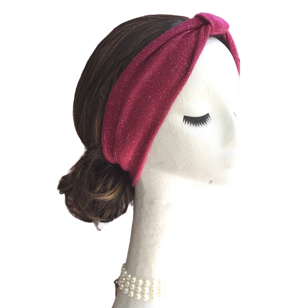 Sweater Burgundy Sparkle Headband