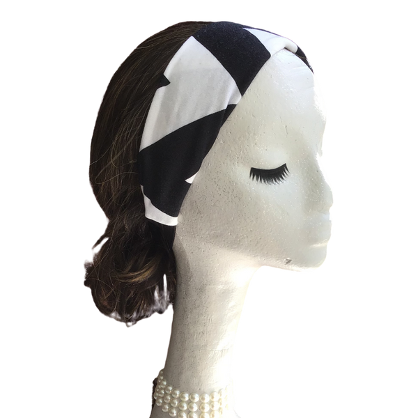 Black and White Chevron Headband