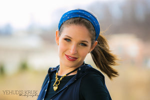 Denim Adjustable Headband