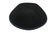 Black Linen with Charcoal Rim Ikippah