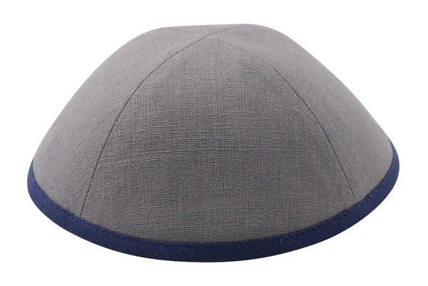 Gray Linen with Navy Rim Ikippah