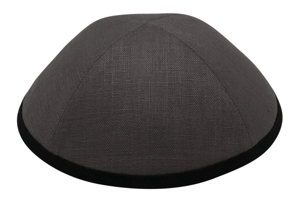 Gray Linen with Black Rim Ikippah